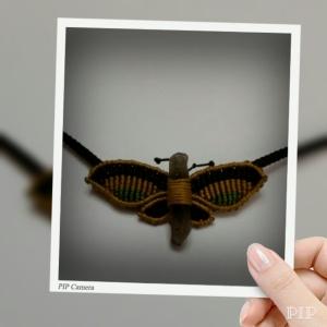 Mariposa de cuarzo ahumado